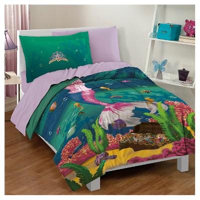 Dream Big Sea Princess Mini Comforter Set - Green (Twin)