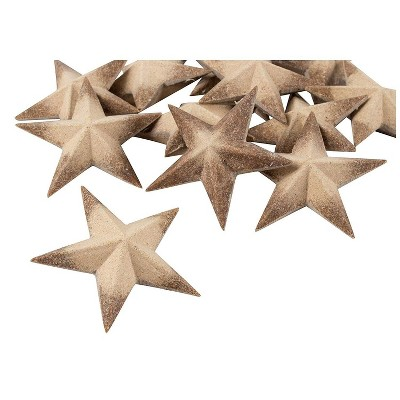 Juvale Wooden Stars for Crafts, Star Cutouts (3 x 3 x 1 in, 12 Pieces)