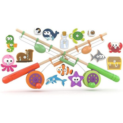 J'adore Wooden Magnetic Fishing Game Toy