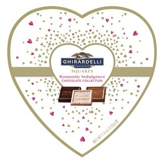 Ghirardelli Valentines Day Romantic Indulgence Chocolate Collection Gift - 7.4oz
