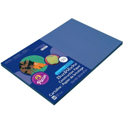 SunWorks Heavyweight Construction Paper, 12 x 18 Inches, Blue, pk of 100