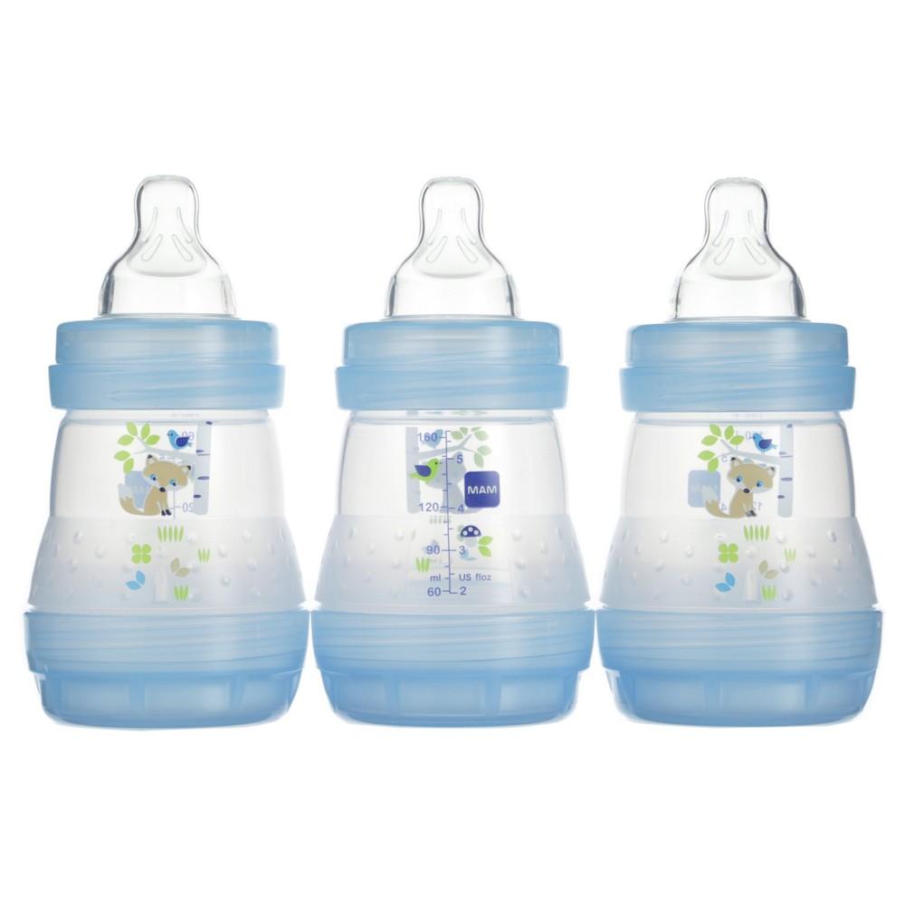 Mam Anti-Colic Bottle, 5oz, 3ct, Blue