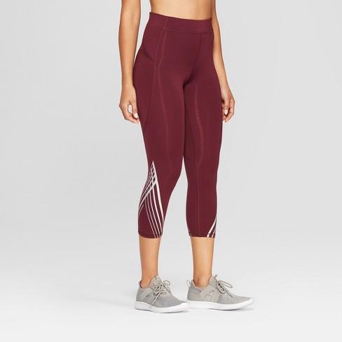 74a9dbc1f532 Women s Striped Running Mid-Rise Capri Leggings 20