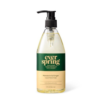 Mandarin & Ginger Liquid Hand Soap - 12 fl oz - Everspring™