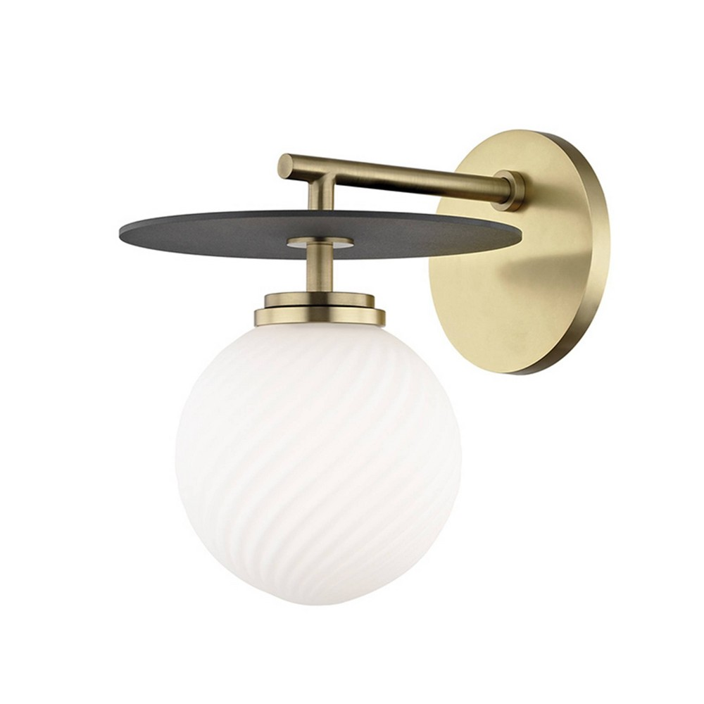 Ellis 1-Light Wall Sconce Aged Brass/Black - Mitzi by Hudson Valley Reviews