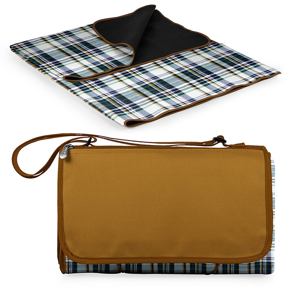 Image of Picnic Time English Plaid Blanket Tote - Brown