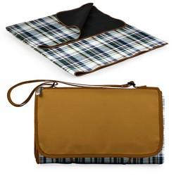 Picnic Time English Plaid Blanket Tote - Brown