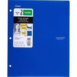 Five Star 2 Pocket Plastic Folder