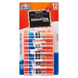 Elmer's 12ct Washable Glue Sticks Disappearing Purple