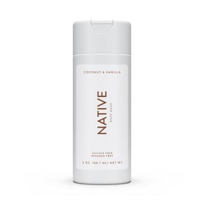Native Coconut & Vanilla Mini Body Wash - Trial Size - 3oz