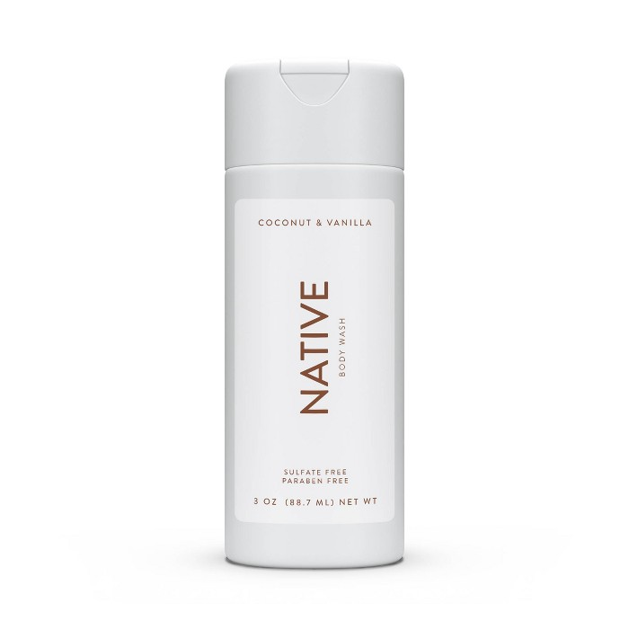 Native Coconut & Vanilla Mini Body Wash - Trial Size - 3oz : Target