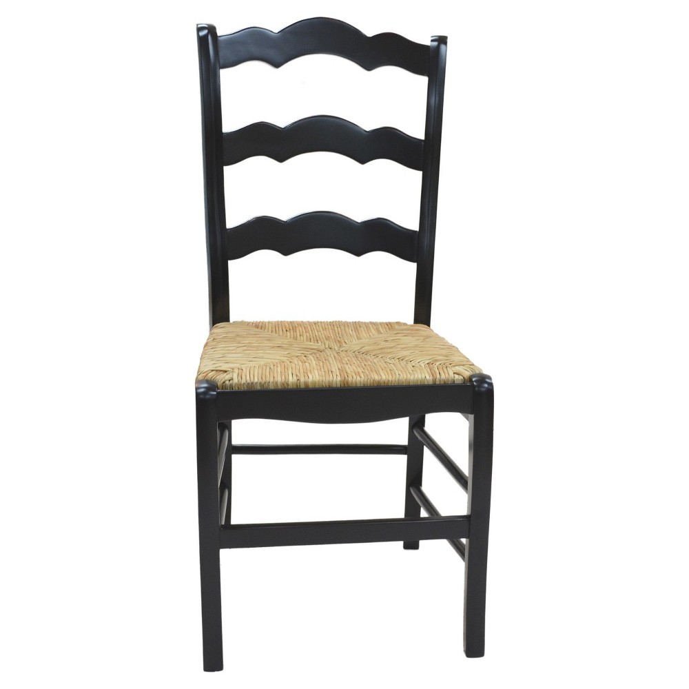 Image of Charlotte Ladder Back Chair - Antique Black - Carolina Chair and Table