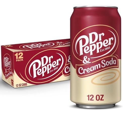 Dr Pepper Cream Soda - 12pk/12 fl oz Cans - image 1 of 4