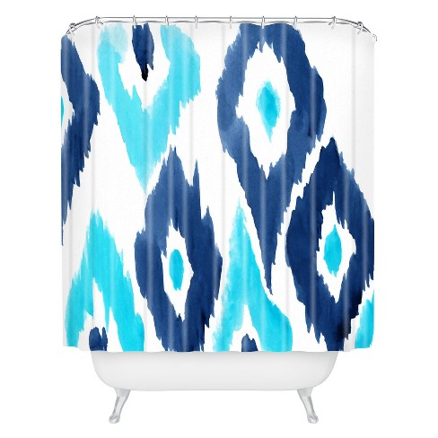 Diamond Shower Curtain Blue - Deny Designs® - image 1 of 2
