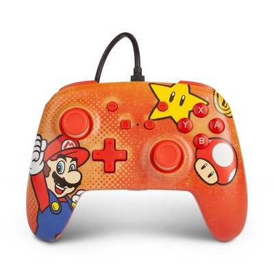 PowerA Enhanced Wired Gaming Controller for Nintendo Switch - Mario Vintage
