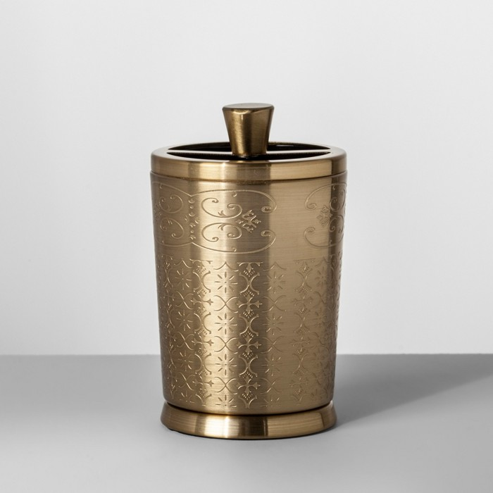 Gold Etched Metal Toothbrush Holder - Opalhouse™ - image 1 of 2
