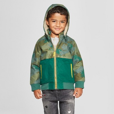 Genuine Kids® from Oshkosh Toddler Boys' Colorblack Jacket - Green 12M
