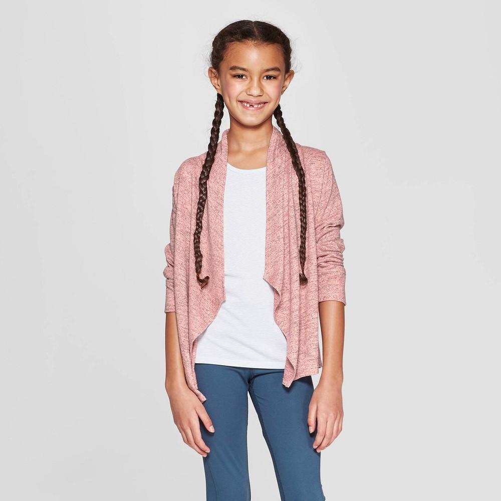 Image of Girls' Studio Cardigan - C9 Champion Coral Pink M, Girl's, Size: Medium, Pink Pink
