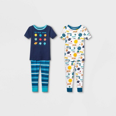Baby Boys' 2pk Space Pajama Jumpsuit - Cat & Jack™ Blue 18M