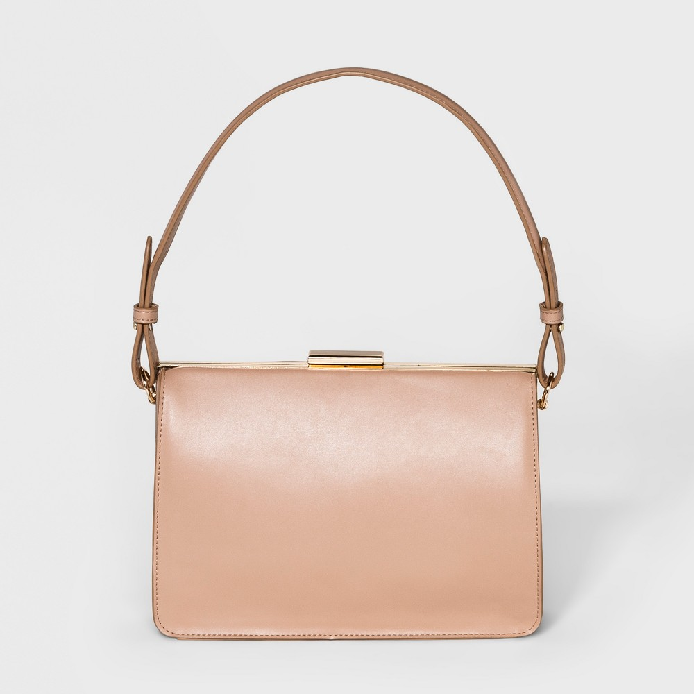 Structured Frame Satchel Handbag - A New Day Brown Clay, Women's