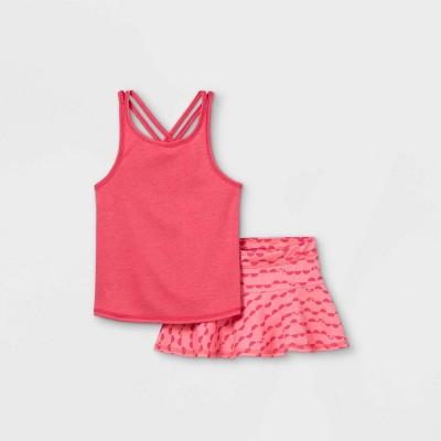 Toddler Girls' Active Fruit Slice Tank Top & Skorts Set - Cat & Jack™ Pink