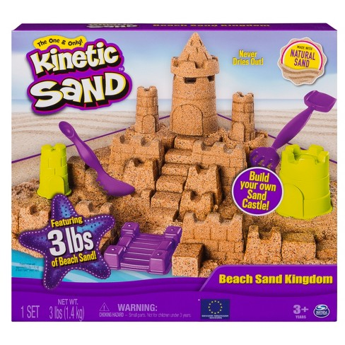 Kinetic Sand - Beach Sand Kingdom Playset with 3lbs of Beach Sand, for Ages 3 and Up - image 1 of 5