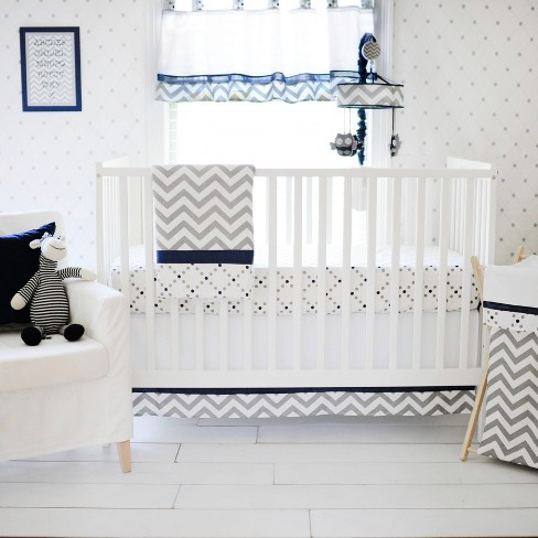 My Baby Sam Out of the Blue 3-Piece Crib Bedding Set - image 1 of 3