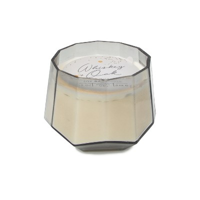12oz Dodeca Glass Jar 3-Wick Candle Whiskey & Oak - Project 62™