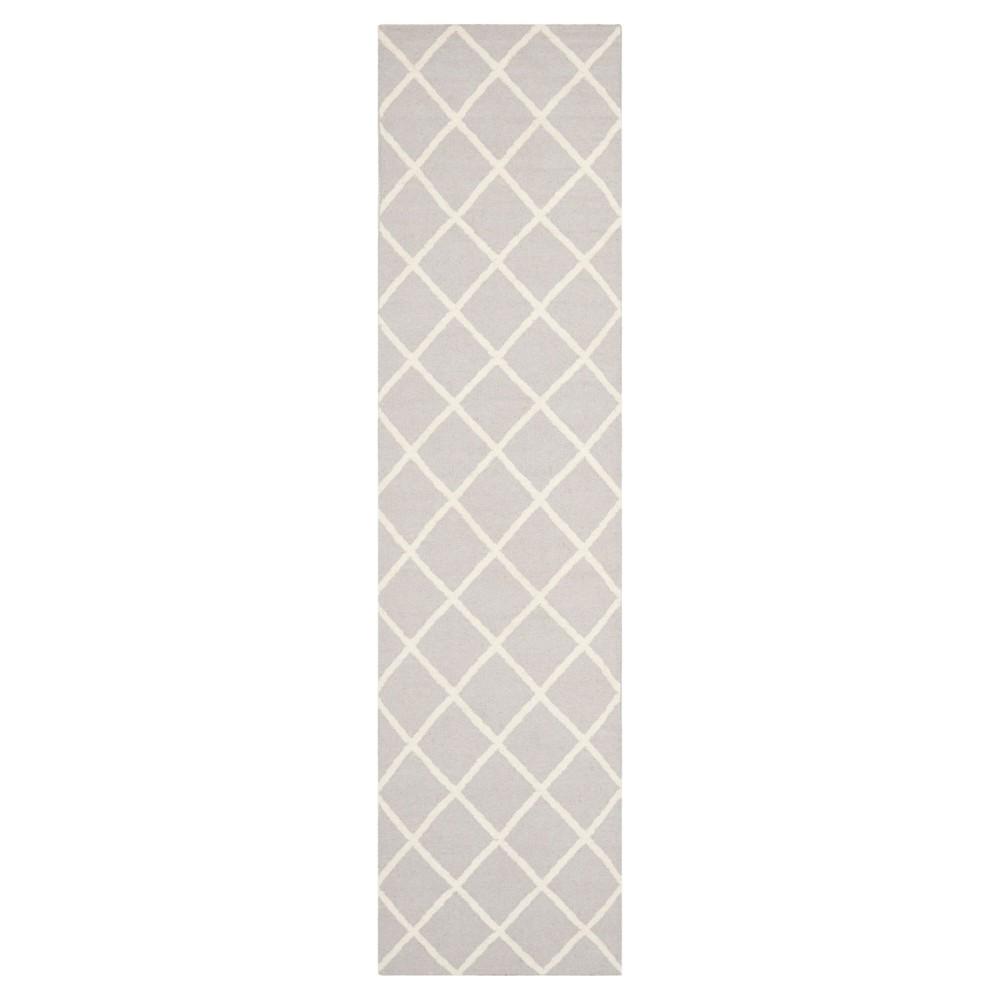Brant Flatweave Wool Rug - Gray/Ivory (2'6x12') - Safavieh