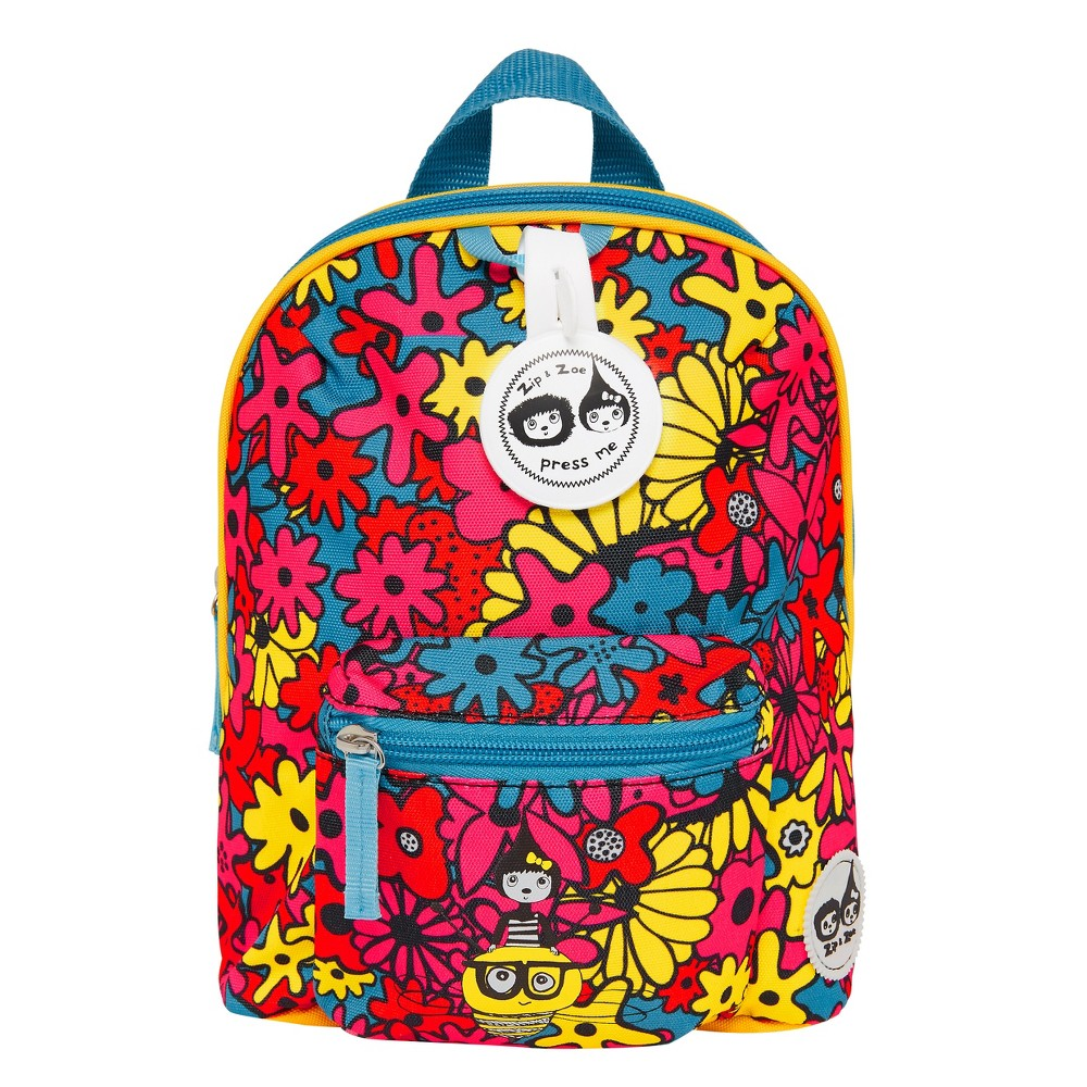 """Image of """"Zip & Zoe Mini 10"""""""" Kids' Backpack & Safety Harness - Floral Brights, Kids Unisex, Size: Small, MultiColored"""""""