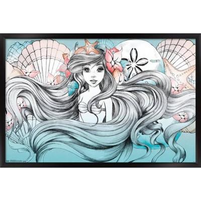 Ariel - Land Or Sea Framed Poster Trends International