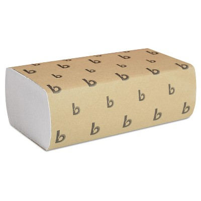 Paper Towels: Boardwalk 1-Ply White Multifold Paper Towels