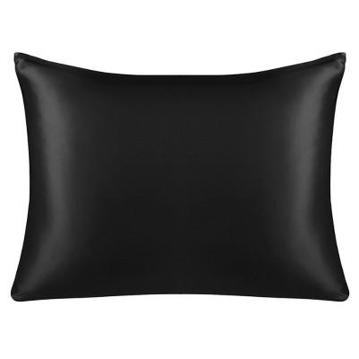 1 Pcs Queen 100% Natural Silk for Hair and Skin Pillowcase Black - PiccoCasa