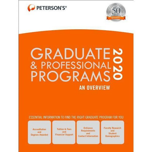Graduate & Professional Programs: An Overview 2020 - 54 Edition (Hardcover) - image 1 of 1