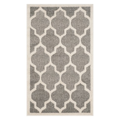 Outdoor Patio Rug - Dark Gray / Beige - Safavieh® - image 1 of 3