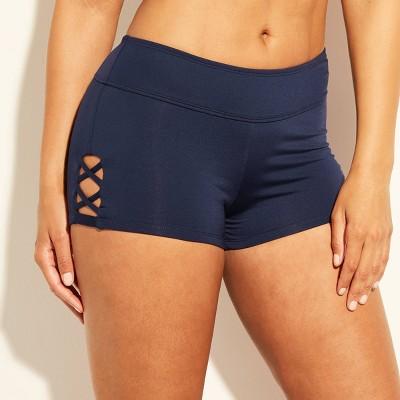 Women's Strappy Side Swim Shorts - Kona Sol™ Navy Blue S