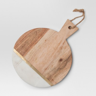 Marble and Wood Cheese Cutting Board - Small - Brown - Project 62™