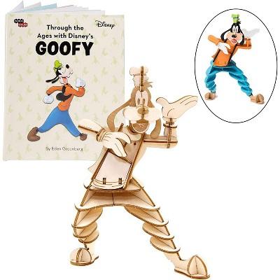 Incredibuilds Disney Goofy Book & Wood Model Figure Kit