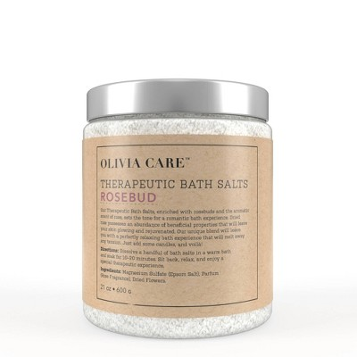 Olivia Care Bath Salts - Rosebud - 21oz