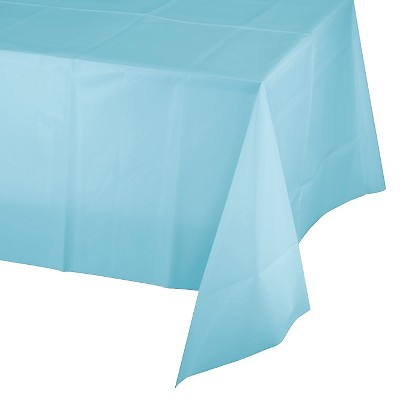 Pastel Blue Disposable Tablecloth