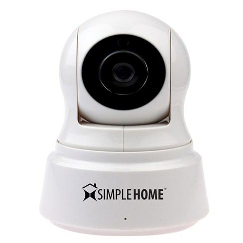 SimpleHome Smart Pan and Tilt Wifi Security Camera - White (XCS71002WHT) - image 1 of 3