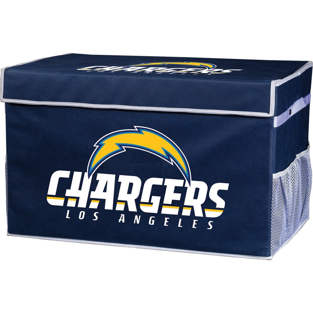 NFL Franklin Sports Los Angeles Chargers Collapsible Storage Footlocker Bins - Large, Multicolored