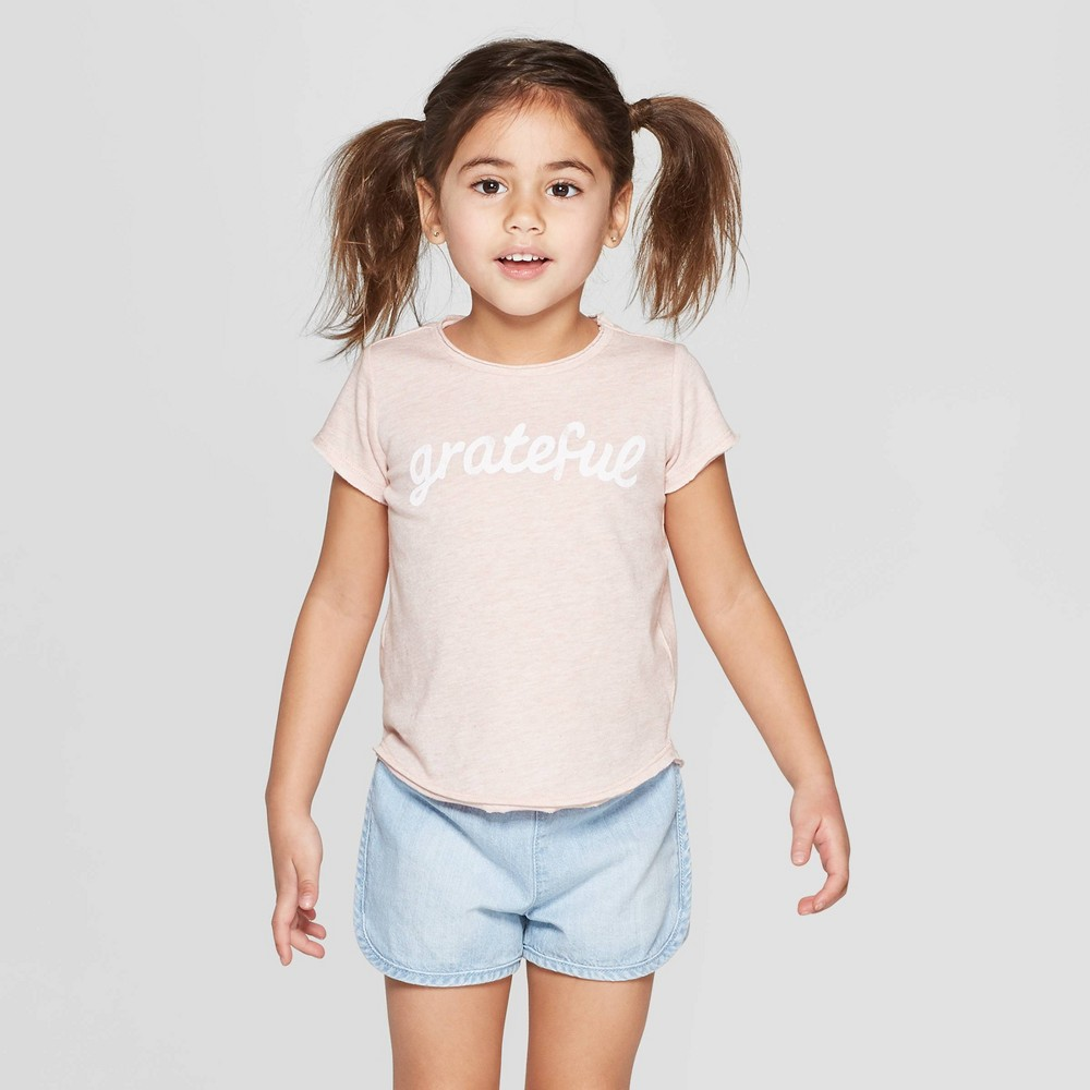 Grayson Mini Toddler Girls' Graphic Short Sleeve T-Shirt - Pink 4T