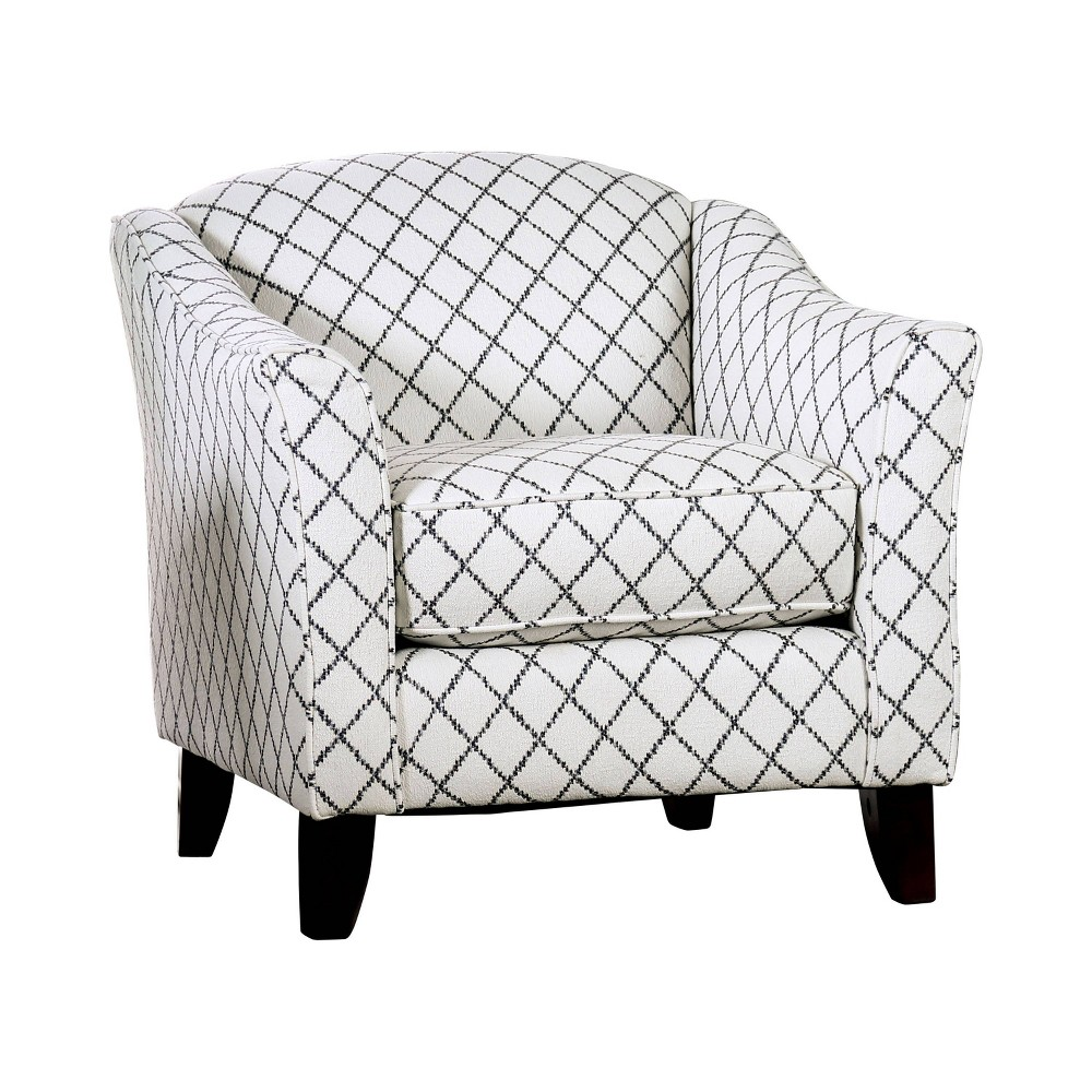 Stayton Flared Arm Diamond Chair Bluish Gray - miBasics