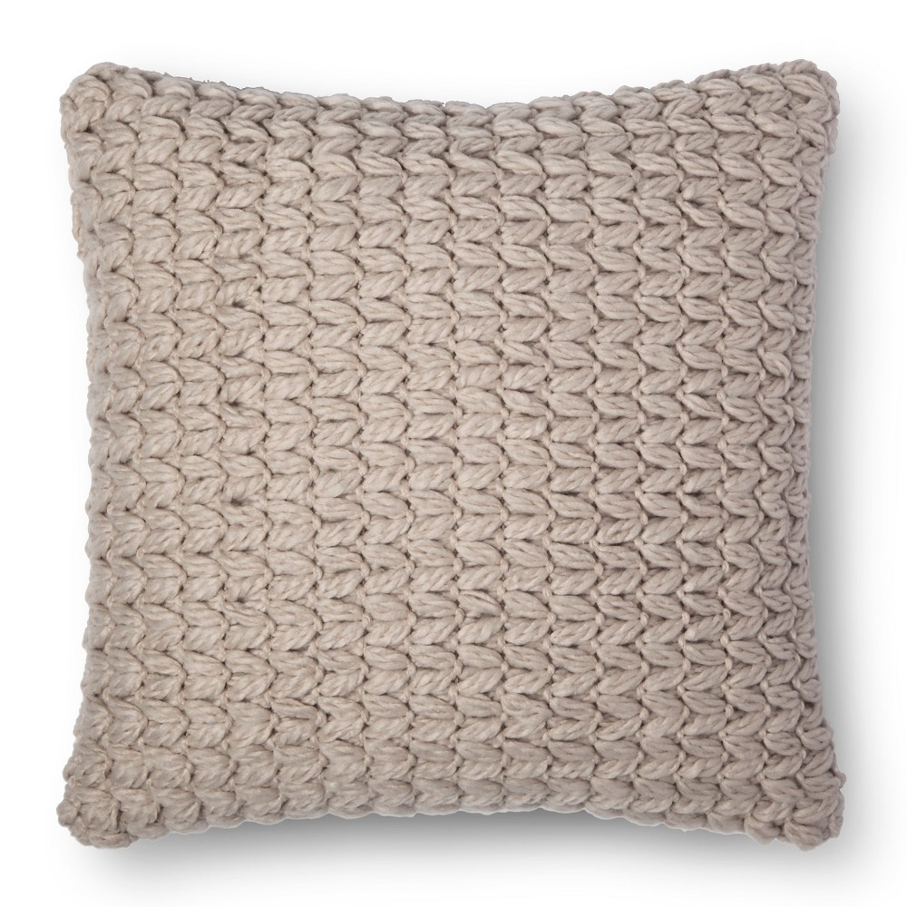 Sand Chunky Knit Square Throw Pillow - Room Essentials, Sandstorm