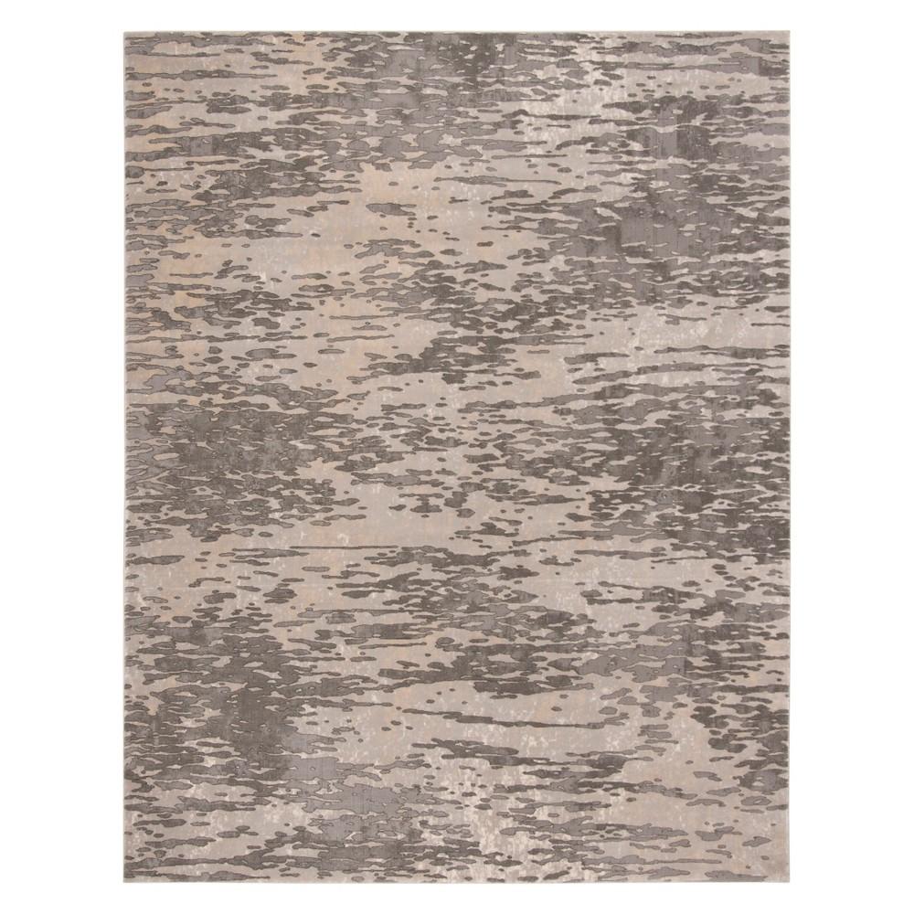 8'X10' Solid Area Rug Gray - Safavieh