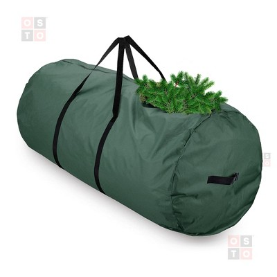 OSTO Round Premium Christmas Tree Storage Bag for Disassembled Trees up to 7.5 Feet, Tear Proof 600D Oxford 50 x 30 x 30