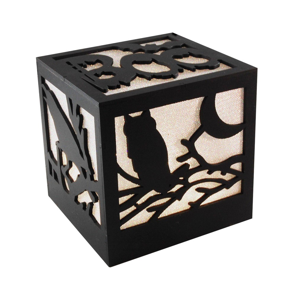 Image of Battery Operated LED Lighted Halloween Box White