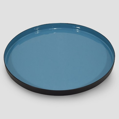 Round Enameled Tray - Blue/Black - Project 62™ - image 1 of 2
