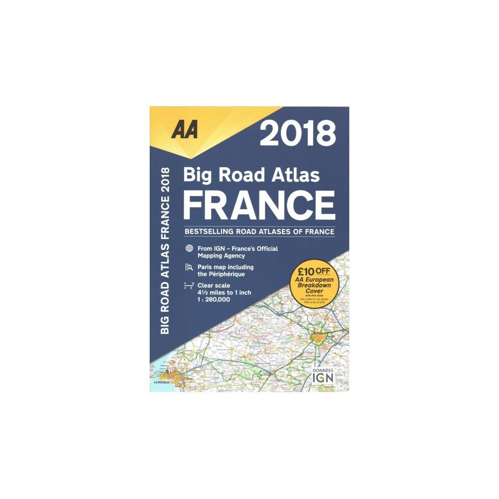 AA Big Road Atlas France 2018 - (Paperback)